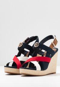 Tommy Hilfiger - ELENA - High Heel Sandalette - red/white/blue - 4