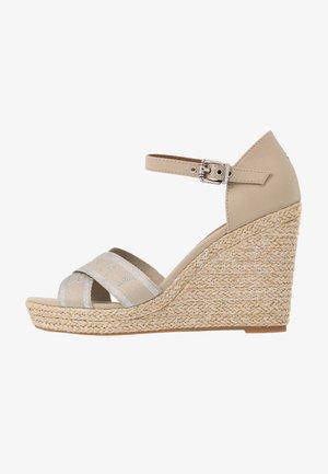 ELENA  - High heeled sandals - stone