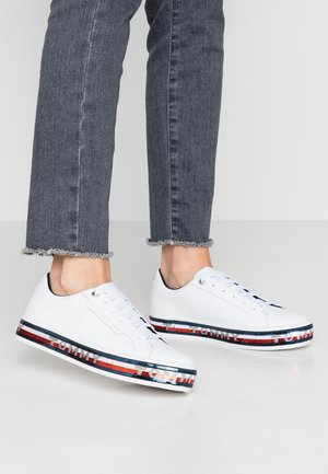 SEQUIN FOXING DRESS SNEAKER - Trainers - white
