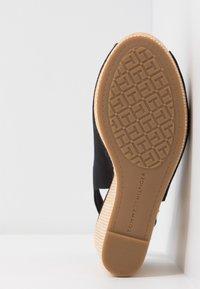 Tommy Hilfiger - ICONIC ELENA SLING BACK WEDGE - High heeled sandals - black - 6