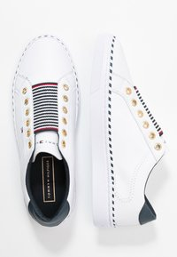 Tommy Hilfiger - TOMMY ELASTIC CITY SNEAKER - Slip-ons - white - 3