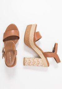Tommy Hilfiger - AALIYAH  - High heeled sandals - summer cognac - 3