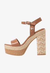 Tommy Hilfiger - AALIYAH  - High heeled sandals - summer cognac - 1