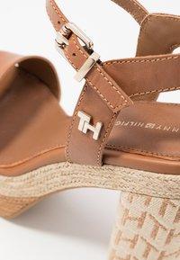 Tommy Hilfiger - AALIYAH  - High heeled sandals - summer cognac - 2
