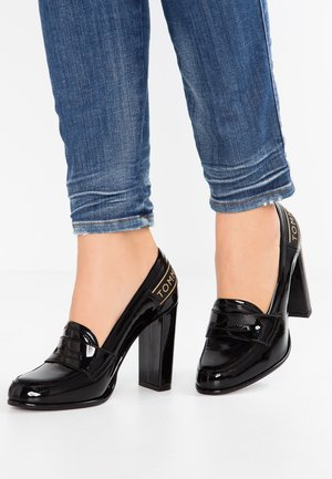 ICONIC LOAFER - Højhælede pumps - black