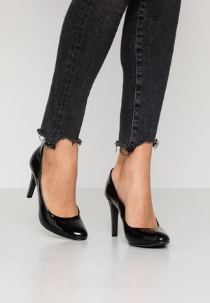 ELEVATED PATENT HIGH PUMP - High heels - black