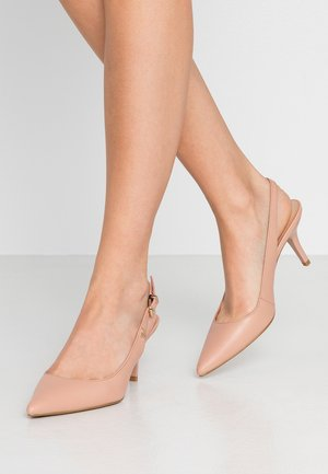 FEMININE LEATHER MID SLING BACK - Pumps - sandbank
