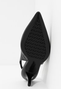 Tommy Hilfiger - FEMININE LEATHER MID SLING BACK - Classic heels - black - 6