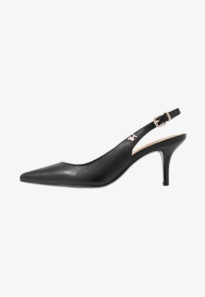 FEMININE LEATHER MID SLING BACK - Classic heels - black