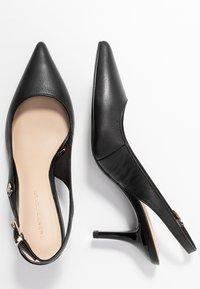 Tommy Hilfiger - FEMININE LEATHER MID SLING BACK - Classic heels - black - 3
