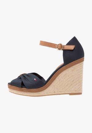 ICONIC ELENA SANDAL - Sandály na vysokém podpatku - dark blue