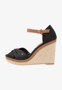 Tommy Hilfiger - ICONIC ELENA SANDAL - Sandaler med høye hæler - black - 1