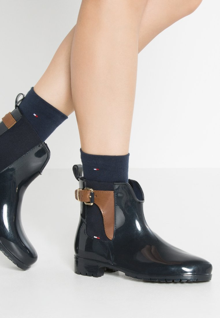 Tommy Hilfiger - OXLEY - Wellies - midnight/winter cognac