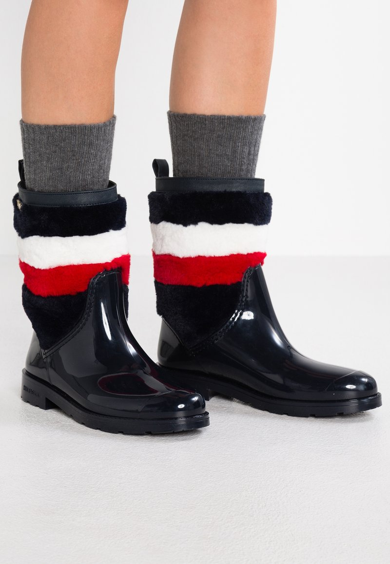 Tommy Hilfiger - CORPORATE RAIN BOOT - Wellies - blue