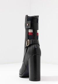 Tommy Hilfiger - MODERN BLANKET HIGH BOOTIE - High heeled ankle boots - black - 5