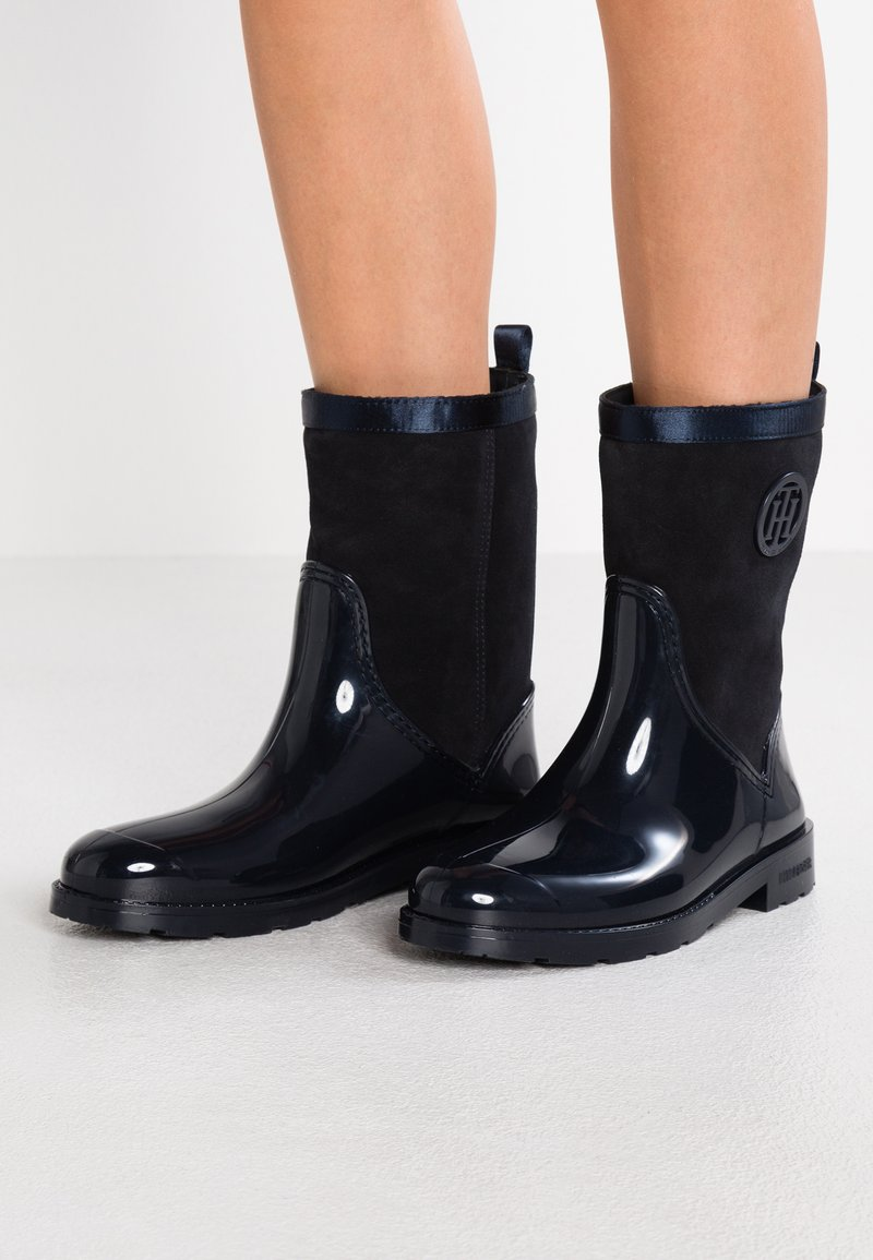 Tommy Hilfiger - WARMLINED RAIN BOOT - Wellies - blue
