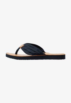 LEATHER FOOTBED BEACH SANDAL - T-bar sandals - desert sky