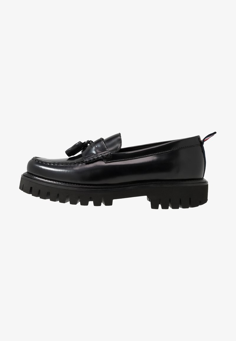 Tommy Hilfiger - CHUNKY DRESS LOAFER - Slip-ons - black