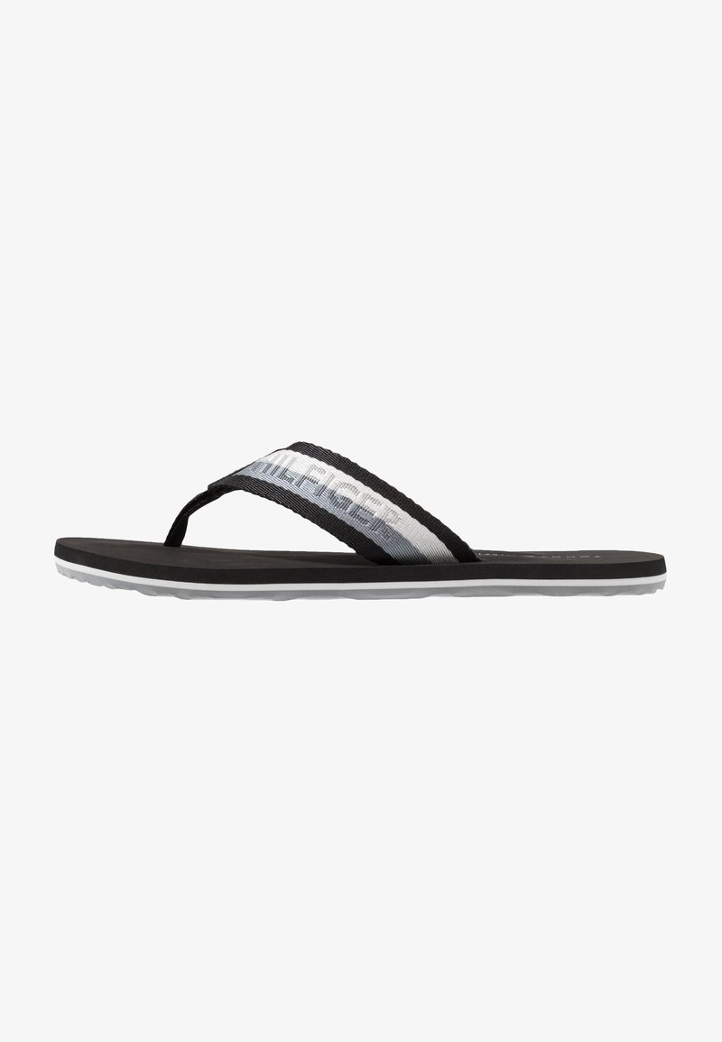 Tommy Hilfiger - CORPORATE BEACH - T-bar sandals - black