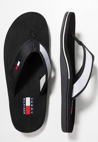 Tommy Hilfiger - CORPORATE  - Sandalias de dedo - black - 1