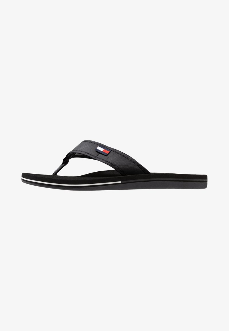 Tommy Hilfiger - CORPORATE  - Sandalias de dedo - black