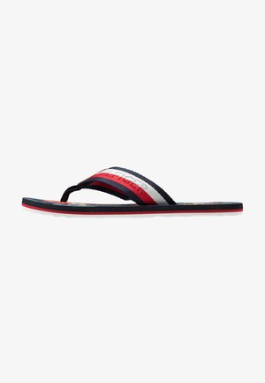 TROPICAL PRINT BEACH  - T-bar sandals - red