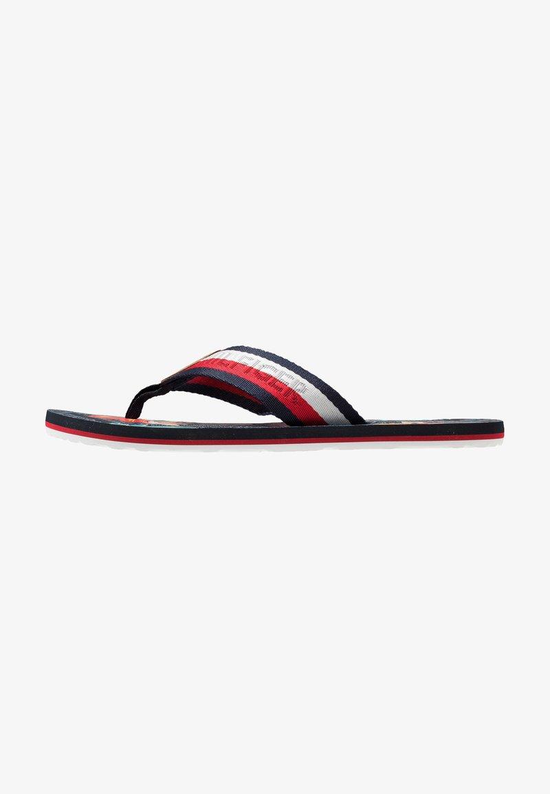 Tommy Hilfiger - TROPICAL PRINT BEACH  - Sandalias de dedo - red