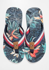 Tommy Hilfiger - TROPICAL PRINT BEACH  - Sandalias de dedo - red - 5