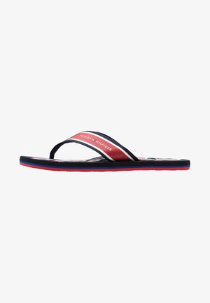 CITY PRINT BEACH  - T-bar sandals - red