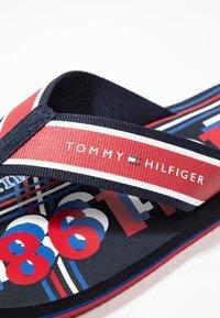 Tommy Hilfiger - CITY PRINT BEACH  - T-bar sandals - red - 5