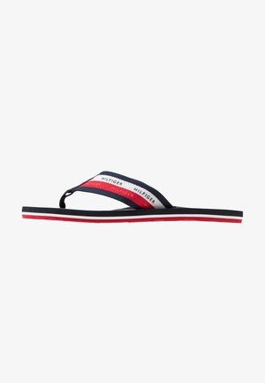 STRIPE BEACH - Sandalias de dedo - blue