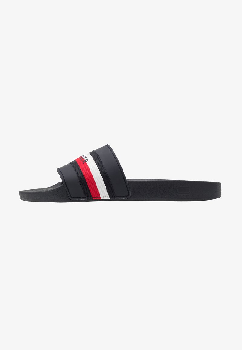 Tommy Hilfiger - CORPORATE STRIPE POOLSLIDE - Muiltjes - blue