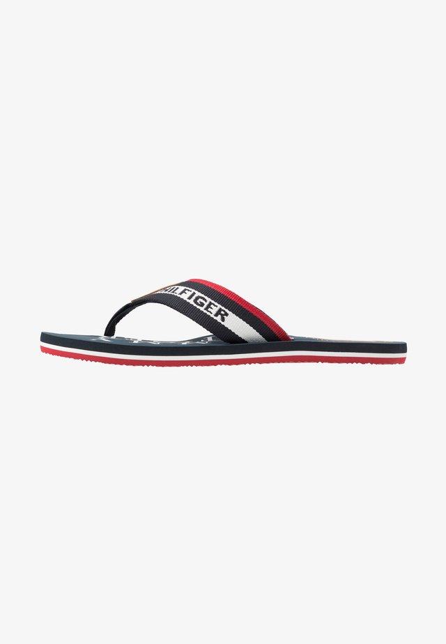 MARITIME BEACH - T-bar sandals - blue