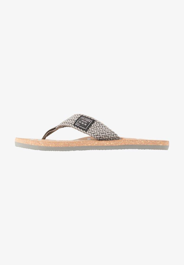 CASUAL BEACH  - T-bar sandals - grey