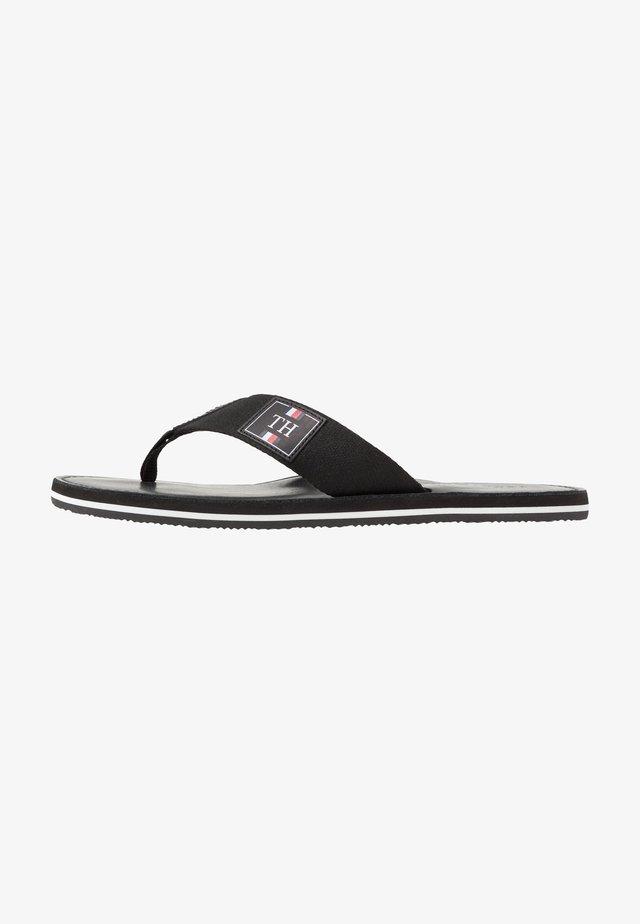 ELEVATED BEACH - T-bar sandals - black