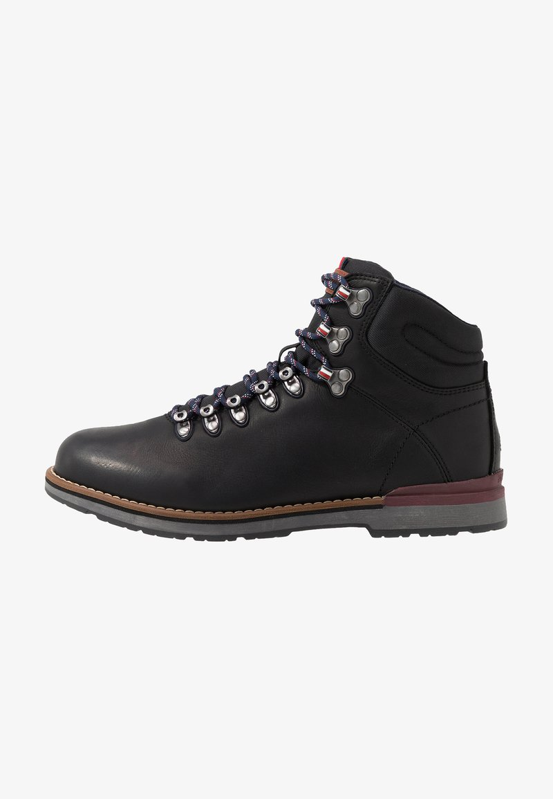 Tommy Hilfiger - OUTDOOR HIKING LACE BOOT - Veterboots - black