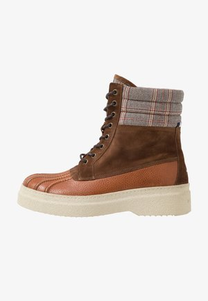 FASHION DUCKBOOT - Lace-up ankle boots - brown