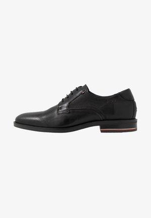 SIGNATURE SHOE - Smart lace-ups - black