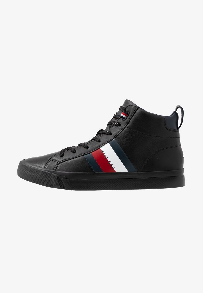 Tommy Hilfiger - FLAG DETAIL - High-top trainers - black
