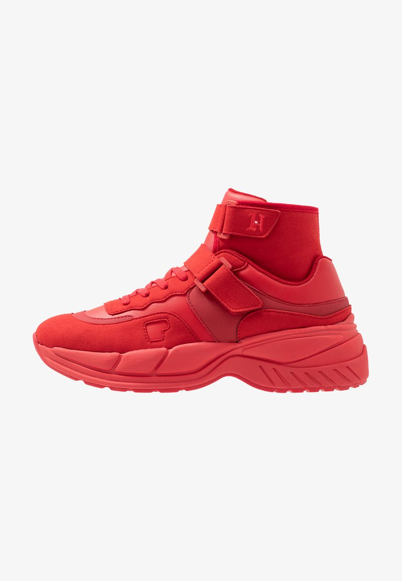 Tommy Hilfiger - LEWIS HAMILTON VARSITY CHUNKY MID SNEAKER - Höga sneakers - red