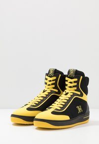 Tommy Hilfiger - LEWIS HAMILTON MODERN HIGH TOP SNEAKER - Korkeavartiset tennarit - black - 4