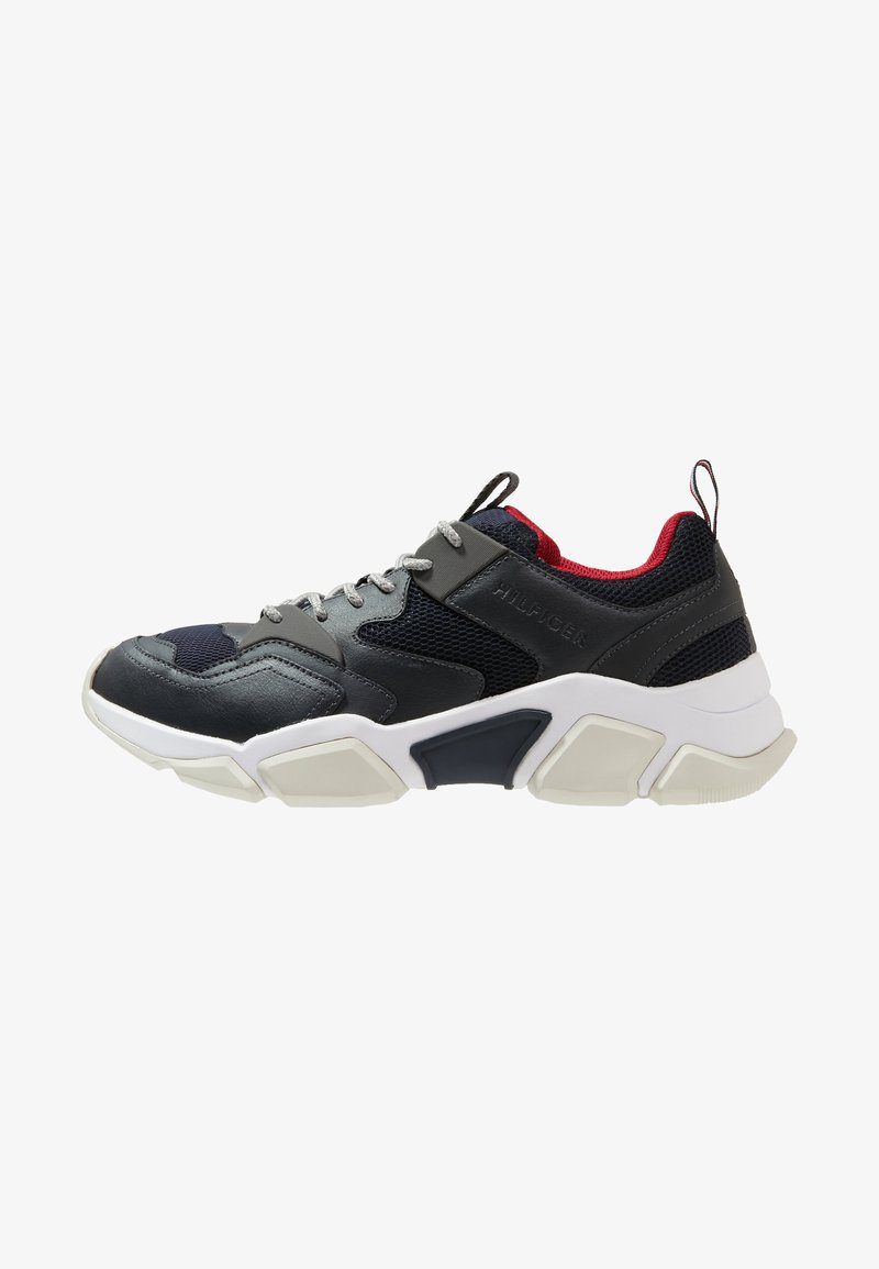 Tommy Hilfiger - CHUNKY MIX TRAINER - Sneaker low - blue