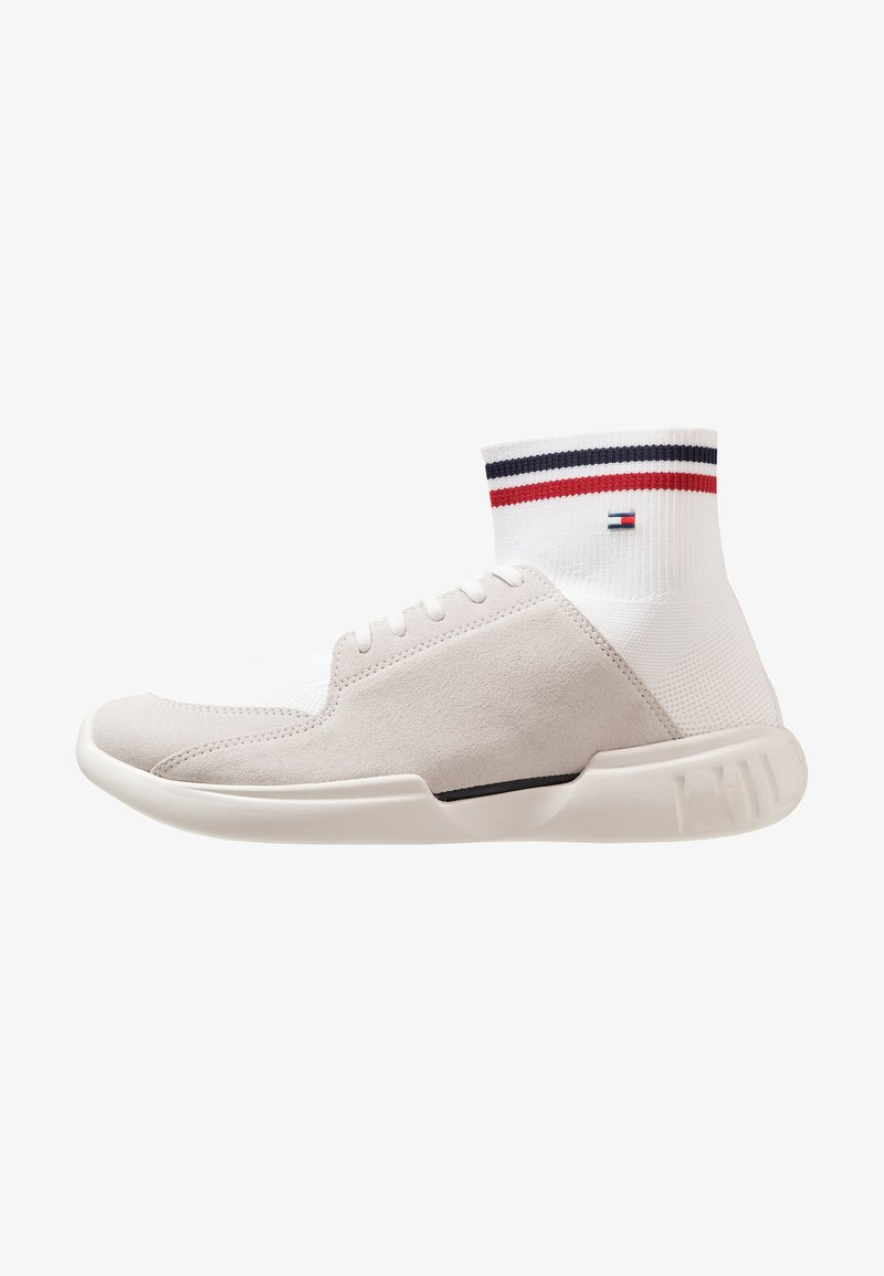 Tommy Hilfiger - CORPORATE RUNNER MID CUT - Sneaker high - white