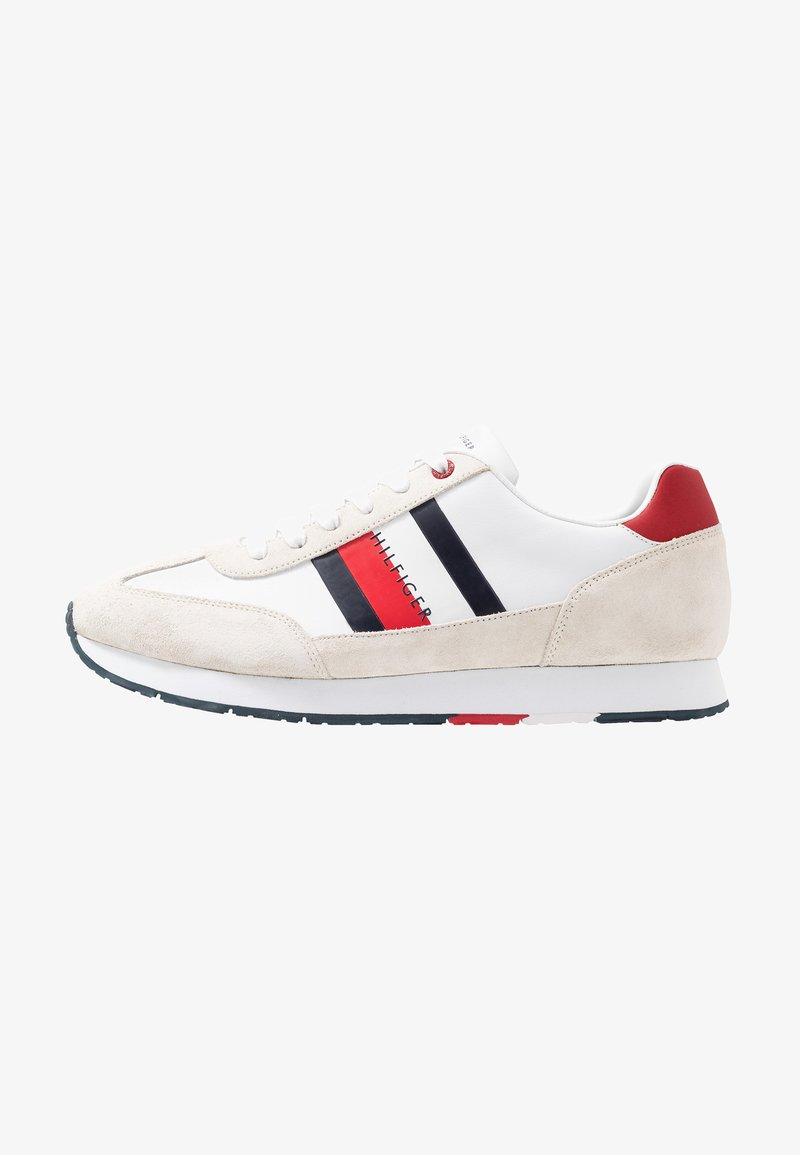 Tommy Hilfiger - CORPORATE FLAG RUNNER - Sneakersy niskie - white