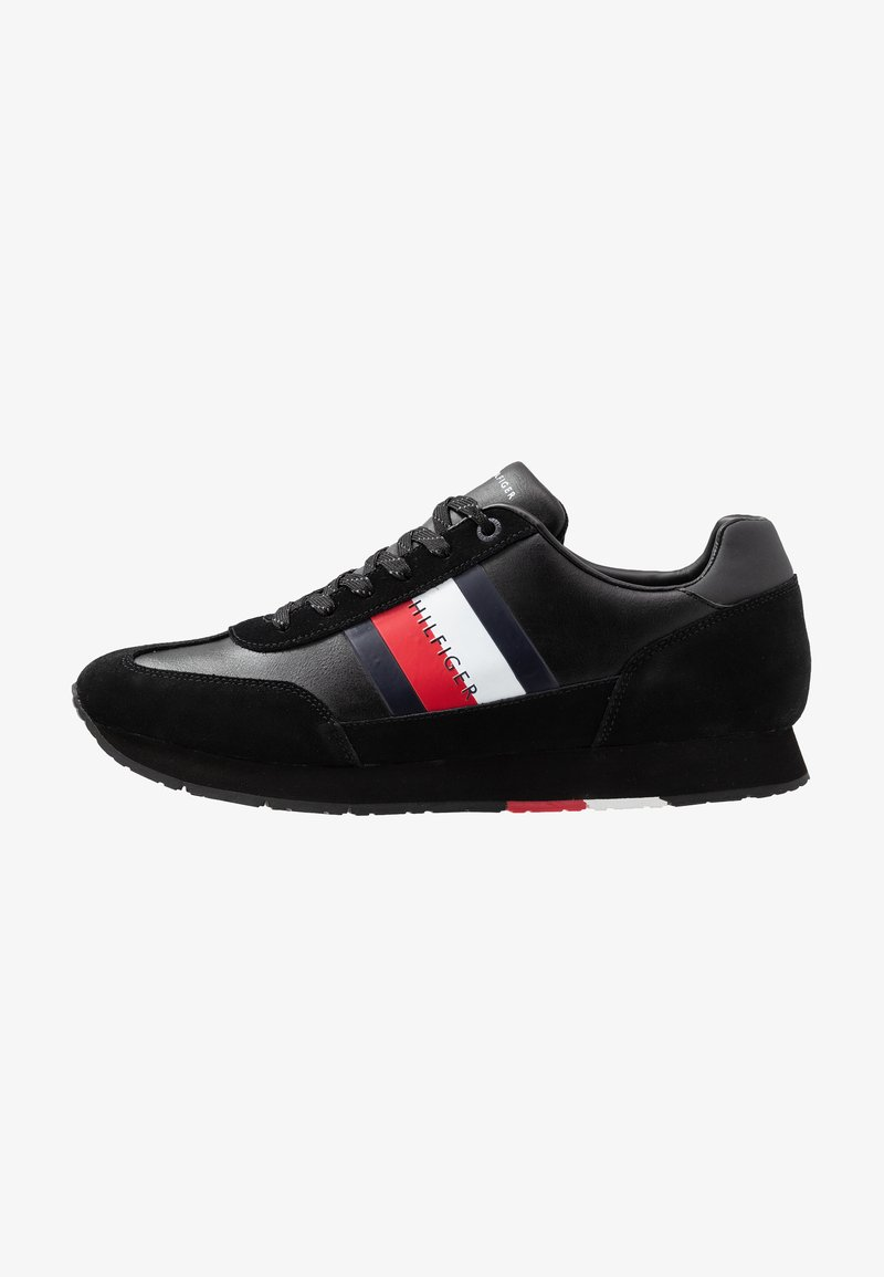 Tommy Hilfiger - CORPORATE FLAG RUNNER - Sneakers - black