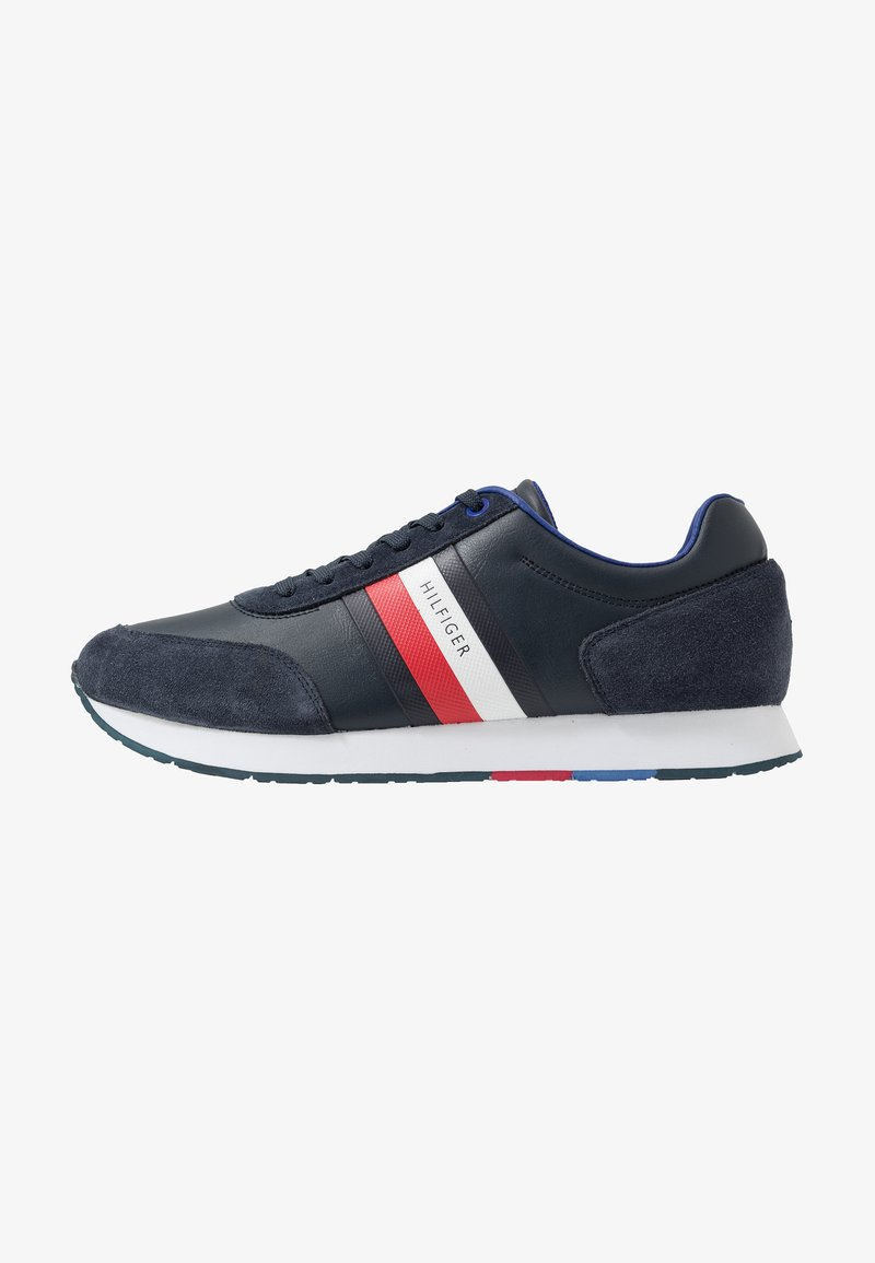Tommy Hilfiger - CORPORATE FLAG RUNNER - Sneakersy niskie - blue