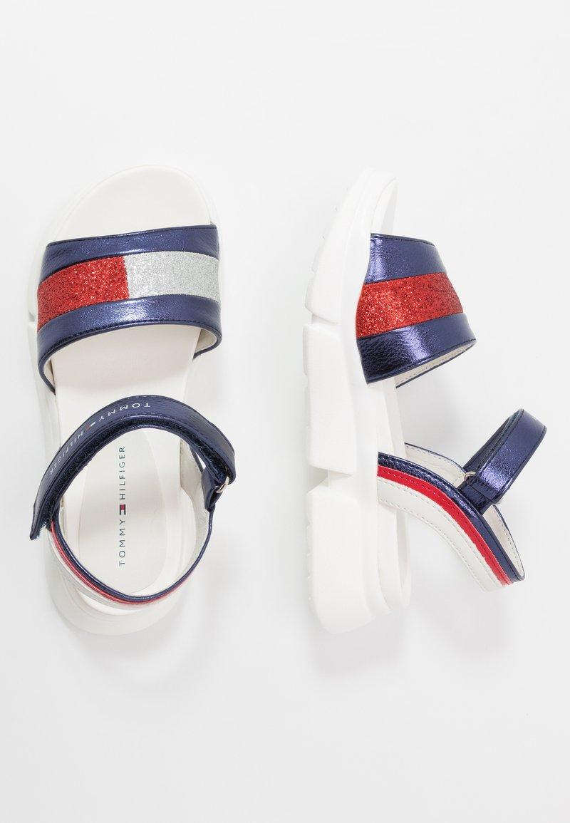 Tommy Hilfiger - Sandals - blue/silver/red