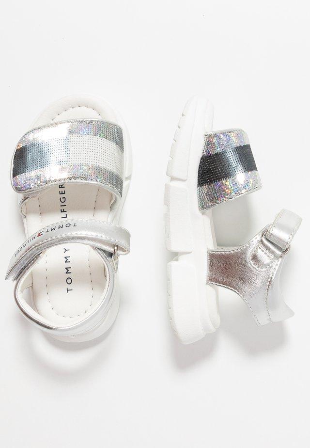 Sandals - blue/silver