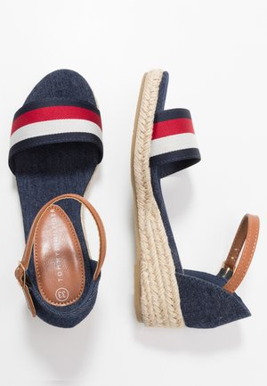 Sandals - blue/white/red
