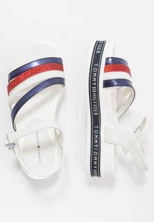 Sandals - blue/red/white